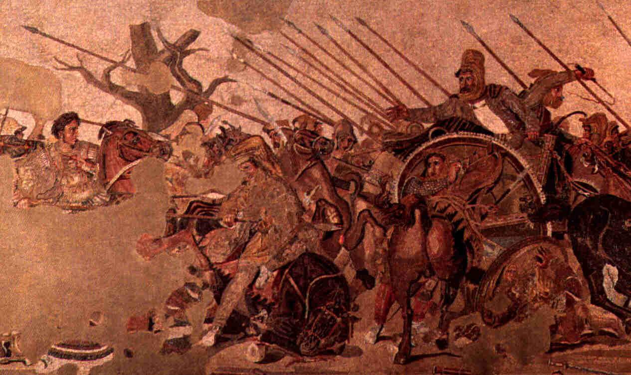 Greek art greek mosaics and murals for Army wallpaper mural