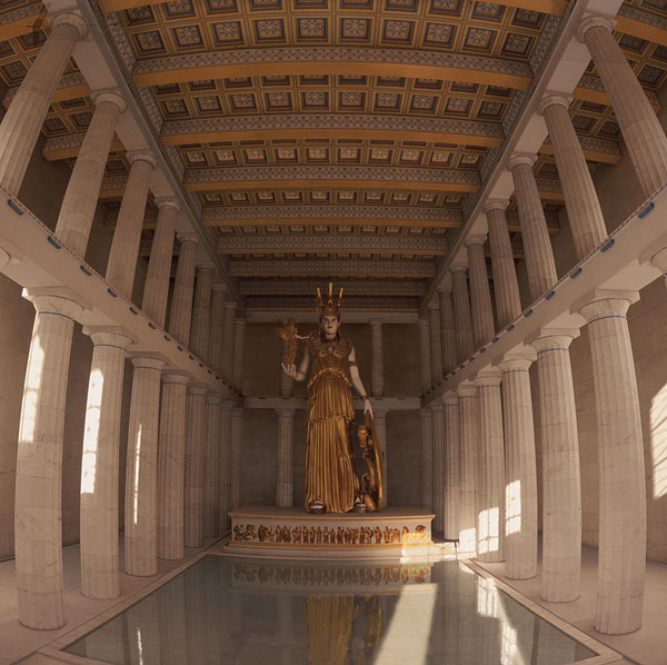 gallery for greek parthenon inside