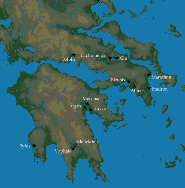 Greek Art Citadel Of Tiryns